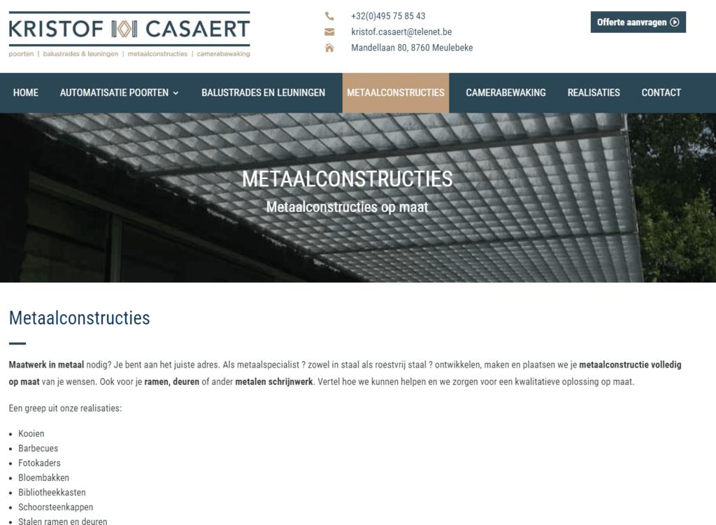 Metaalconstructies op maat - Kristof Casaert - Meulebeke