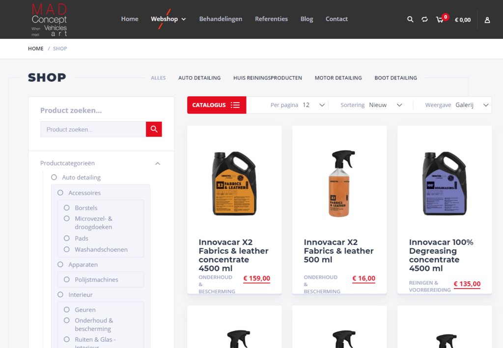 Dé webshop voor auto motor of boot detailing - MAD Concept
