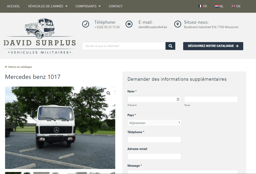 Mercedes benz 1017 - David Surplus