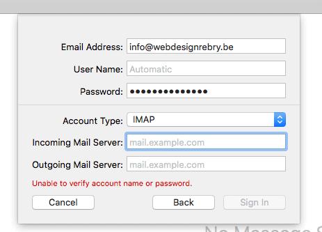 E-mail instellen: Apple Mail 4