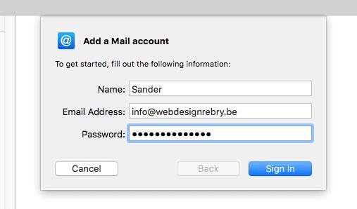 E-mail instellen: Apple Mail 3