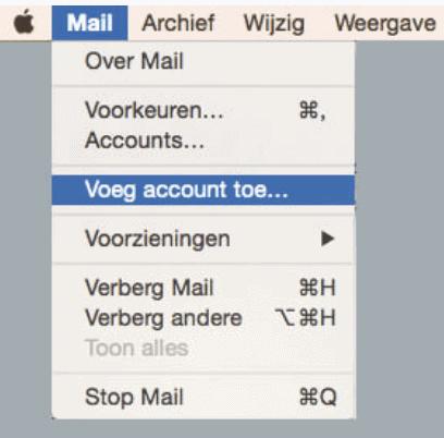 E-mail instellen: Apple Mail 1